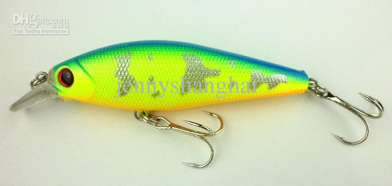 85mm iscas De Pesca Minnow 8.5 CM 10.3G 6 # ganchos Hard Bait profundidade de mergulho 0.6-1.2 m 4 cores dois ganchos MI036 frete grátis