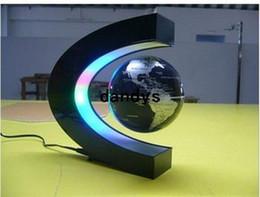 Levitation Floating Globe Canada - LED Electronic LED Light Wireless Power Magnetic Levitation Floating World Map 3 inch Antigravity Globe Magic Gift