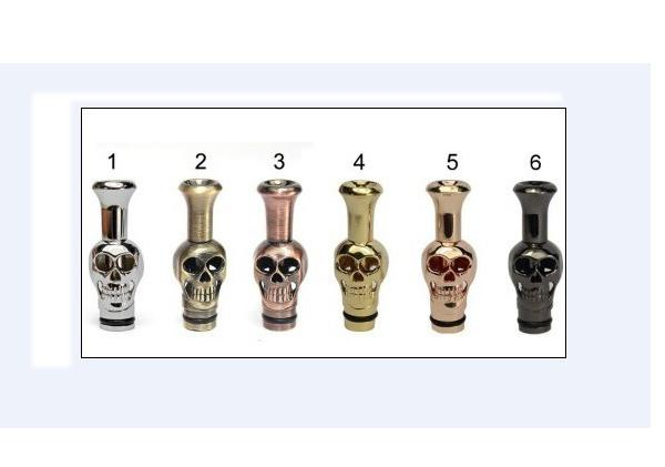 Electronic Cigarette Hot Metal Drip Tips Ego Skeleton Shape Skull Style Mouthpiece Fit EGO Vivi Nova Tank DCT EE2 510 Thread