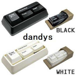 Wholesale Wholesale Stationery Sets - free shipping Keyboard Stationery Set for Student Office with Hole Punch, Stapler, keyboard sweep, paperclip adsorber