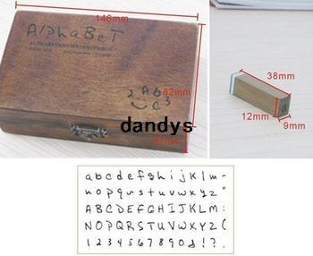 /NEW Creative Letters & Number Stamp Set With Wooden Box / Decorative DIY  Work Rubber Stamps Custom Postage Stamps Online From Dandys, &Price