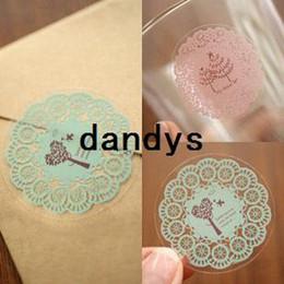 Wholesale pvc paste - full pvc transparent small fresh lace decoration stickers diy transparent stickers circle lace sealing paste