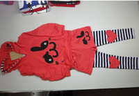 Wholesale Zebra Christmas Gifts - Wholesale - Spring autumn winter girl's 2pc suits Hoodie+striped pants baby christmas gifts lovely rabbit baby sweater sets 5s l