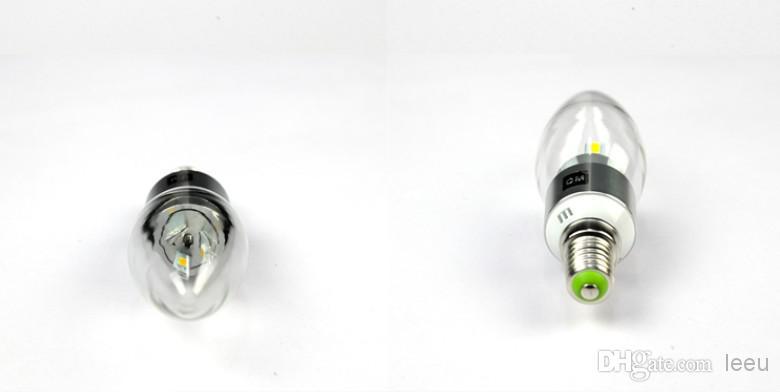 عالية الطاقة 6W الصمام شمعة لمبة E14 E12 E27 85-265V LED الثريا المصابيح أدى ضوء مصباح إضاءة الضوء النازل