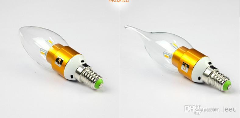 Alta potência 6W Led bulbo chandelier E14 E12 E27 LED 85-265V levou luz lâmpada lâmpadas de iluminação holofotes downlight