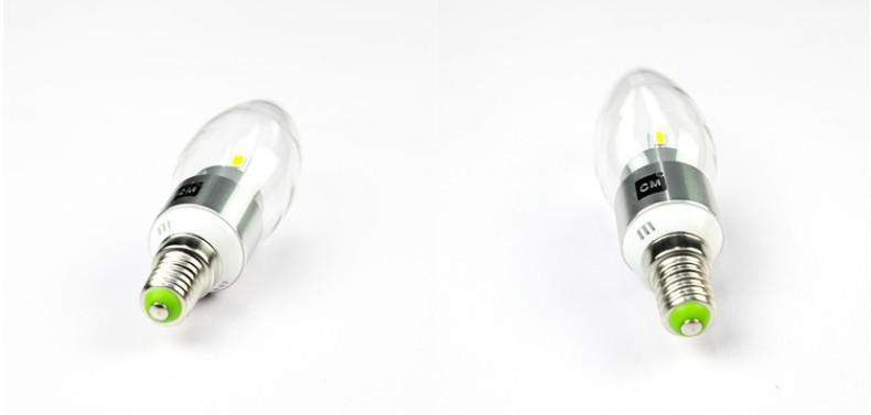 Alta potencia 6W LED Vela Bombilla E14 E12 E27 85-265V LED lámpara LED Lámpara Luz Luz Bombillas Iluminación Proyector Downlight