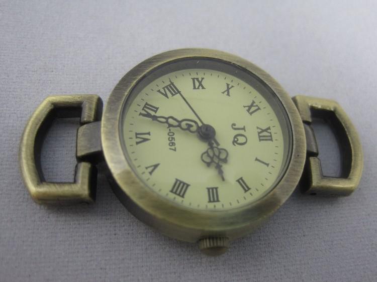 JQ Markenbronze römische Weinlese Uhr stellt Großverkauf dar !!! / geben Verschiffen frei