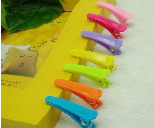 Bambini Candy Colors Clip 300 pz / lotto Bobby Pin clips Barrette Plastica clip coccodrillo clip clip in grappolo