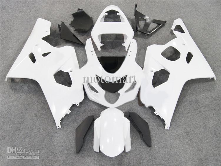 7 cadeaux !! Kit carénage pour 2004 2005 carénage moto blanc SUZUKI GSXR600 750 GSXR 600 GSXR 750 K4 04 05 SV16