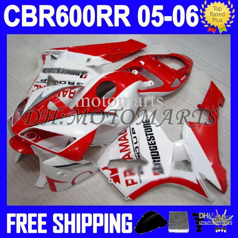 Для Honda Pramac и другие ЦБ РФ 600 600RR CBR600RR 05 06 CBR600 РР красный белый Ф5 100% 100% новый CBR600F5 05 06 2005 2006 MTS387 красный обтекатель +7gifts запросу