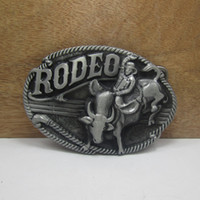 Wholesale Wholesale Men Western Belts - BuckleHome Rodeo belt buckle western belt buckle FP-03257 with pewter finish with continous stock free shipping