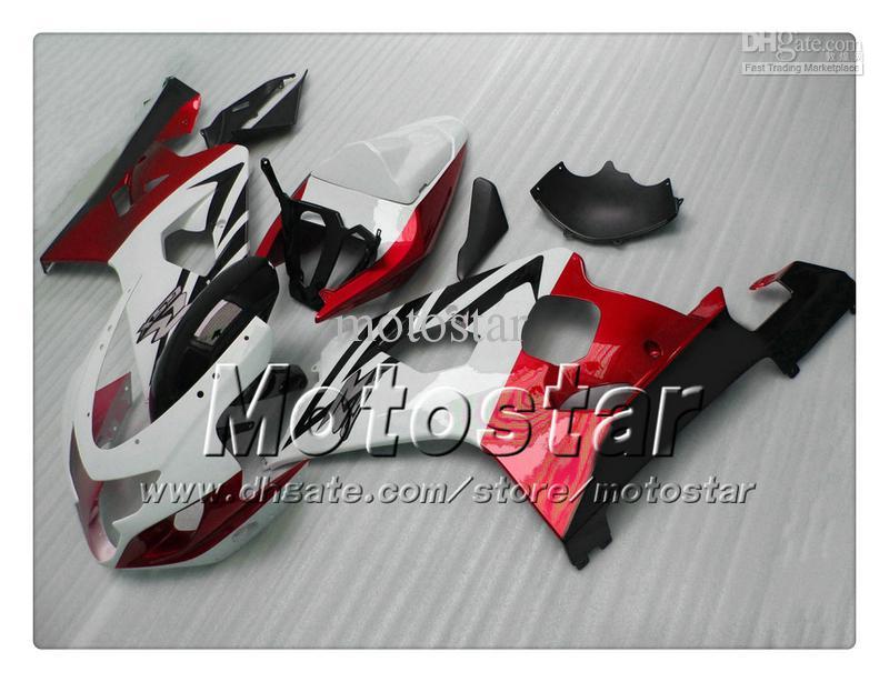 Carrosseriebereiken voor Suzuki GSXR 600 750 K4 2004 2005 GSXR600 GSXR750 04 05 R600 R750 Gossy Rood Wit Zwart ABS FACKING