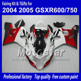 China Bodywork fairings for SUZUKI GSXR 600 750 K4 2004 2005 GSXR600 GSXR750 04 05 R600 R750 gossy red white black ABS fairing suppliers