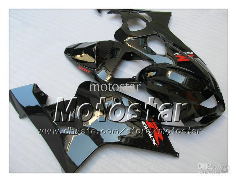 7 gifts bodywork fairings for SUZUKI GSXR 600 750 K4 2004 2005 GSXR600 GSXR750 04 05 R600 R750 glossy black ABS fairingTT28