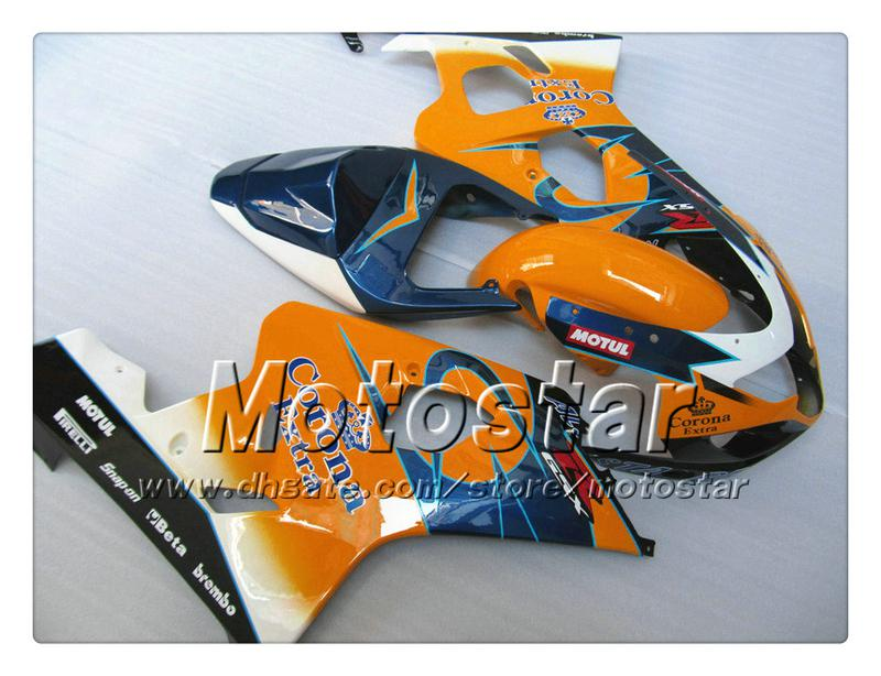 7 presentes carenagem para SUZUKI GSXR 600 750 K4 2004 2005 GSXR600 GSXR750 04 05 R600 R750 laranja azul Corona ABS carenagemTT34