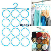 Wholesale Scarf Tie Hanger - Free Shipping, Ring 12 tie underwear scarf multifunctional hanger circle hangers a988