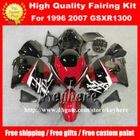 Wholesale 1992 Gsxr - Free 7 gifts fairing kit for SUZUKI GSXR 1300 08 09 10 GSX-R1300 97 98 00 01 02 05 07 GSXR1300 1997 1998 1999 2006 fairings G4b red black