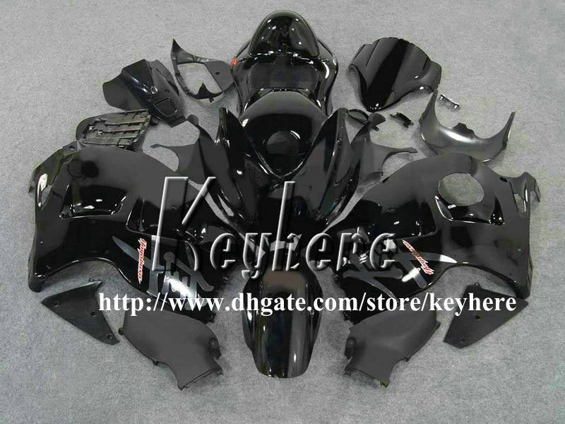 Kit de carénage 7 cadeaux gratuit pour SUZUKI GSXR 1300 08 09 10 GSX R1300 1997 1998 2007 GSX-R1300 97 98 99 01 04 06 07 carénage G6a tout corps noir