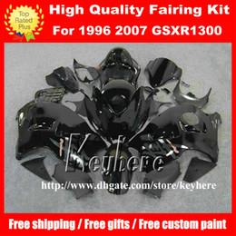 Wholesale 1992 Gsxr - Free 7 gifts fairing kit for SUZUKI GSXR 1300 08 09 10 GSX R1300 1997 1998 2007 GSX-R1300 97 98 99 01 04 06 07 fairings G6a all black body