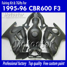 Honda F3 Fairing Kit Canada - 100% injection mold fairings for HONDA CBR600F3 95 96 CBR600 F3 1995 1996 CBR 600 F3 95 96 black cusom paint fairings kit