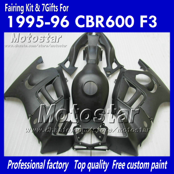 100% injection mold fairings for HONDA CBR600F3 95 96 CBR600 F3 1995 1996 CBR 600 F3 95 96 black cusom paint fairings kit