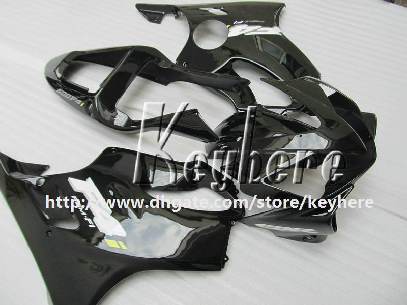 Gratis 7 geschenken Custom Race Fairing Kit voor HONDA CBR600 2001 2002 2003 CBR 600 01 02 03 F4I FACKINGS G2K Hot Koop Zwart Motorfiets Carrosserie