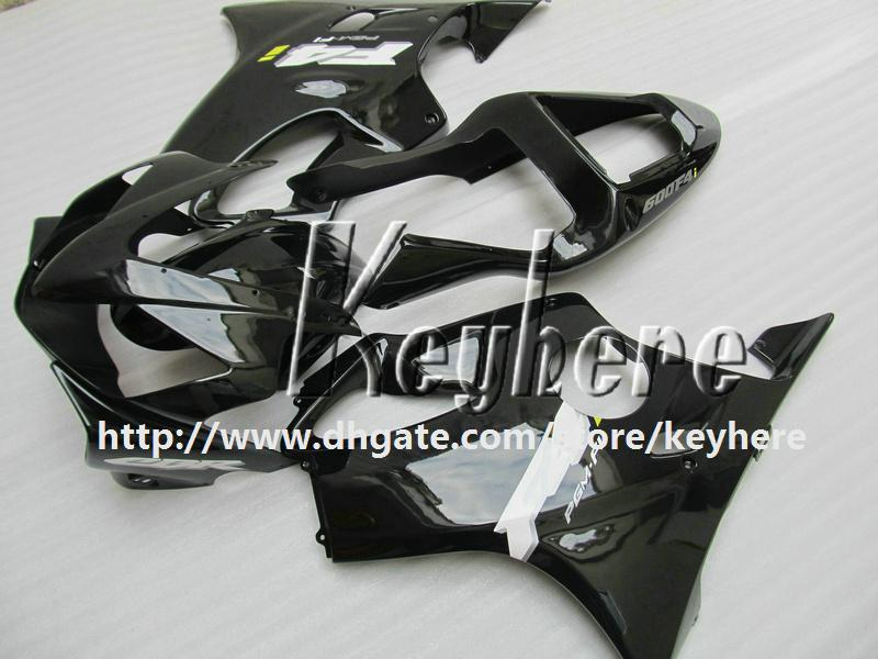 7 regali personalizzati Kit carena da gara Honda CBR600 2001 2002 2003 CBR 600 01 02 03 F4I carene G2k vendita calda carrozzeria nera moto