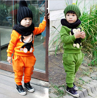 Wholesale Monkey Piece Set - Wholesale - Spring autumn winterbaby clothing set hoodies+pants 2pcs set cotton suit Cartoon monkey Children sports suit 5s l