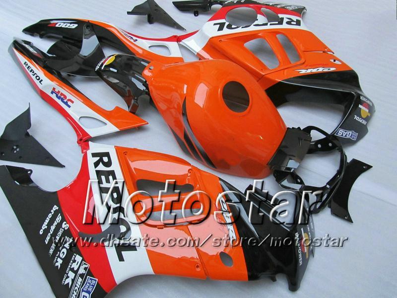 7 cadeaux carénages pour HONDA CBR600F3 95 96 CBR600 F3 1995 1996 CBR 600 F3 95 96 kit carénages orange brillant Cusom TT86