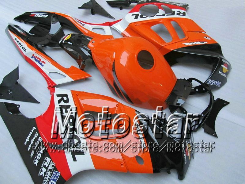 7 regali carenature HONDA CBR600F3 95 96 CBR600 F3 1995 1996 CBR 600 F3 95 96 lucida arancione cusom carenature kit TT86