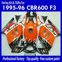 7 gifts fairings for HONDA CBR600F3 95 96 CBR600 F3 1995 1996 CBR 600 F3 95 96 glossy orange cusom fairings kit TT86