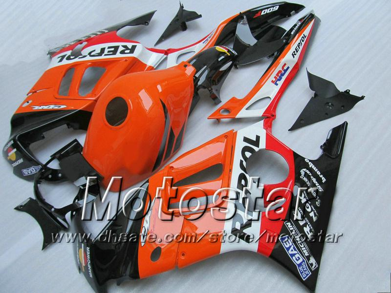 7 presentes carenagens para Honda CBR600F3 95 96 CBR600 F3 1995 1996 CBR 600 F3 95 96 de laranja brilhante cusom carenagens kit TT86