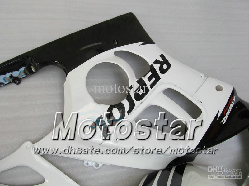 7 vagas de pós-venda para a HONDA CBR600F3 95 96 CBR600 F3 1995 1996 CBR 600 F3 95 96 preto branco brilhante Repsol carenagem