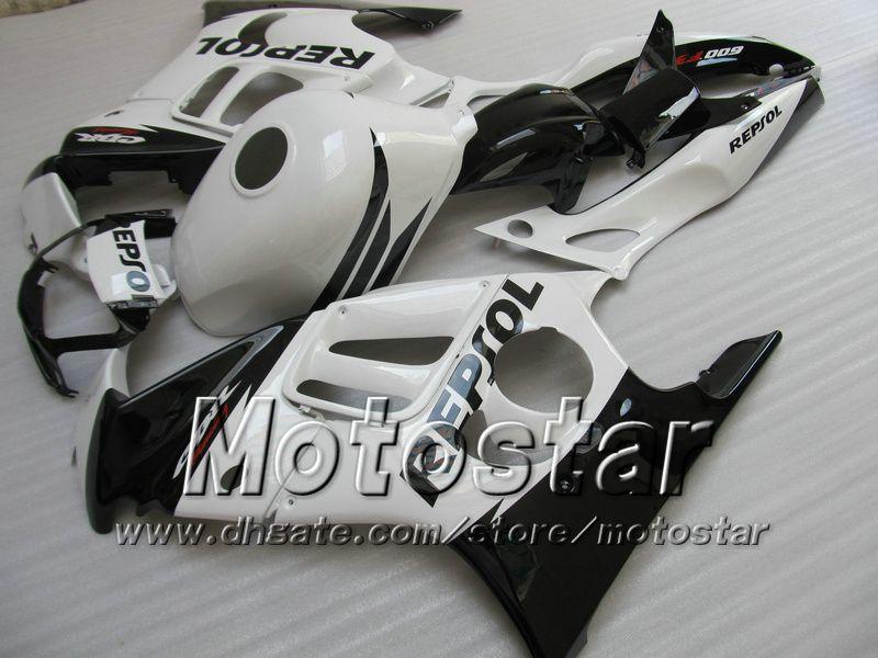 Carénages après-vente 7gifts pour HONDA CBR600F3 95 96 CBR600 F3 1995 1996 CBR 600 F3 95 96 brillant blanc noir carénage Repsol
