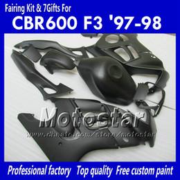 Honda Custom Parts Canada - Fairing body kit for HONDA CBR600 F3 97 98 CBR 600 F3 1997 1998 CBR 600F3 97 98 flat black custom fairings parts