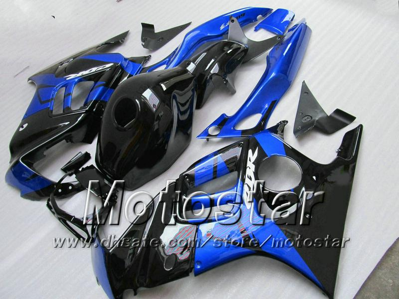 Kit de carénage pour HONDA CBR600 F3 97 98 CBR 600 F3 1997 1998 CBR 600F3 97 98 carénage personnalisé bleu noir + 7 cadeaux