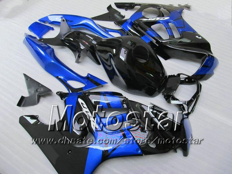 Kit de carenagem para HONDA CBR600 F3 97 98 CBR 600 F3 1997 1998 CBR 600F3 97 98 preto brilhante azul preto carenagem + 7 presentes