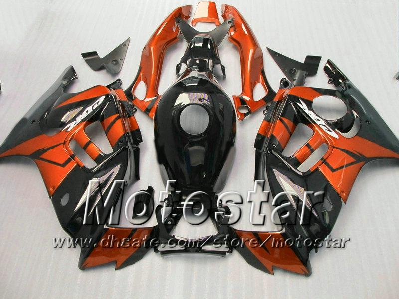 Customize fairing for HONDA CBR600 F3 97 98 CBR 600 F3 1997 1998 CBR 600F3 97 98 glossy orange in black fairings set