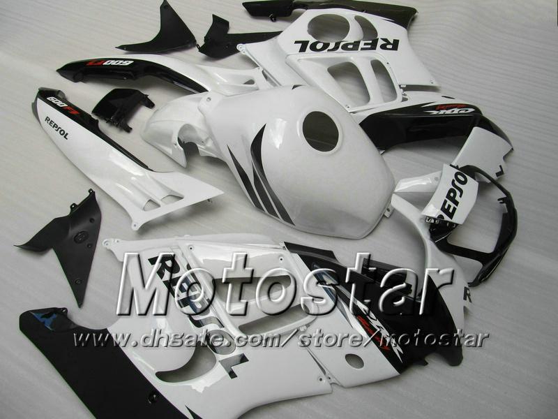 Kit de carenado para HONDA CBR600 F3 97 98 CBR 600 F3 1997 1998 CBR 600F3 97 98 blanco brillante negro Repsol carenados
