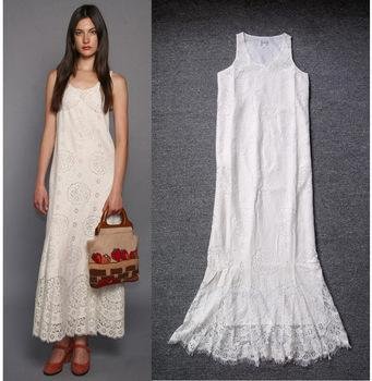 Top Grade, Quality Assurance White Long Dress, Women Casual Cotton ...