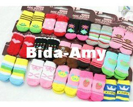 Wholesale Socks Designs Shoes - Free shipping !Wholesale NEW Fashion Design pet Dog Socks 24pcs lot=6sets lot hot selling products