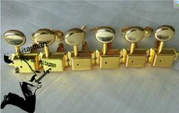 Wholesale Electric Guitar Pegs - Guitar tuning heads Electric Guitar golden Tuning Pegs For Fender 6 pcs Sets