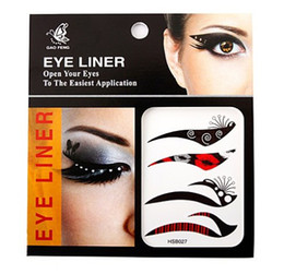 Wholesale Eye Liner Stickers - 10 Packets of Fashion Eye Liner Stickers Tattoo Application Safe & Non-toxic(Random Send)