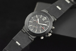 Wholesale Dlc Pvd - luxury Automatic Mens Watch Diagono Sapphire Crystal Black Dial Dlc Pvd Rubber Bands Wristwatch Men's Mechanical Watches Sport Watches