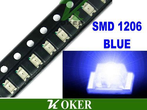 3000 pz / bobina SMD 1206 3216 LED Blu Lampada Diodi Ultra Bright SMD 3216 1206 SMD LED Spedizione gratuita