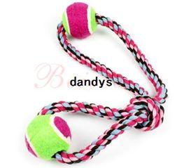 Wholesale Large Rope Balls - Bobo cotton rope double ball pet cotton rope toy large dog molar dog toys , Free Shipping