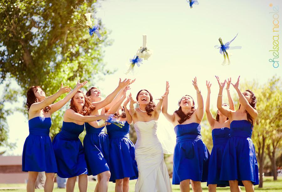 s!!2013 Simple Fashion Hot Sale Blue Strapless Custom Made Satin Knee Length Bridemaid dresses