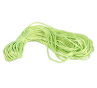 Wholesale Nylon Knot Macrame Cord - 2mm Dia. Yellowgreen Nylon Glossy Cords Rattail Chinese Knotting Beading Macrame Rope Threads Bracelet Jewelry DIY 50m Free P&P NF1-48*5
