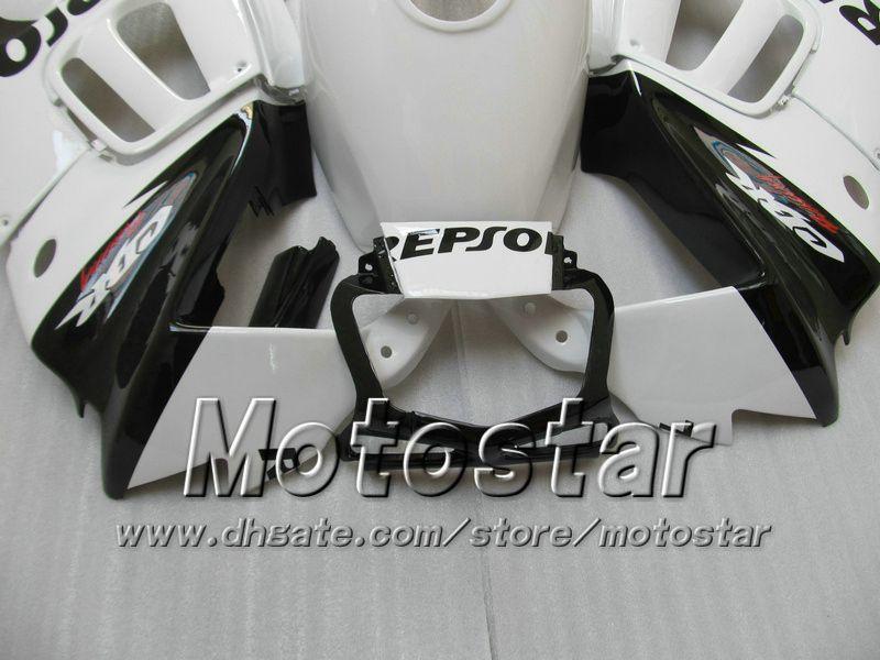 Bodykit carenatura HONDA CBR600 F3 97 98 CBR 600 F3 1997 1998 CBR 600F3 97 98 nero bianco Set carene personalizzate Repsol