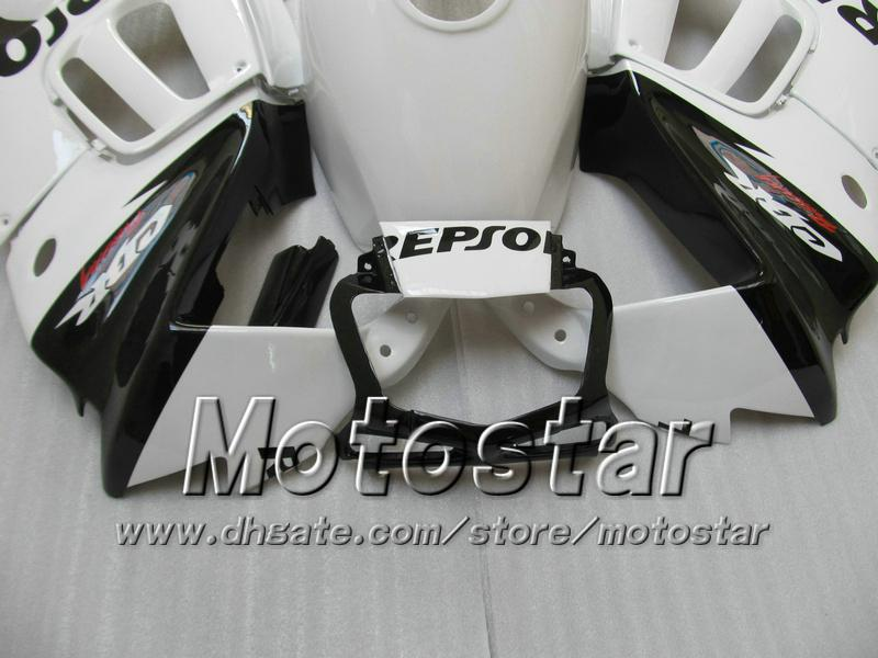 Kit de carénage de carénage pour HONDA CBR600 F3 97 98 CBR 600 F3 1997 1998 CBR 600F3 97 98 blanc noir ensemble de carénages Repsol